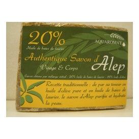 Aquaromat Savon d'Alep Artisanal 20% 200g