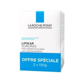 La RochePosay Lipikar Pain Surgras Savon 150g Lot De 2