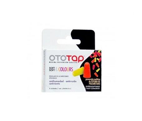 Ototap Soft & Colours bouchons d'oreille en polyuréthane 6 pcs