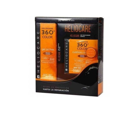 Heliocare 360º Color Gel Bronze Intense + Color Cushion Compact Bronze Intense