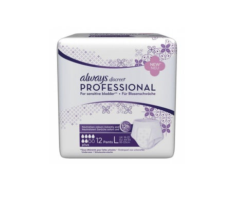 Always Discreet Professional Sousvêtement Plus Taille L 12 protections incontinence