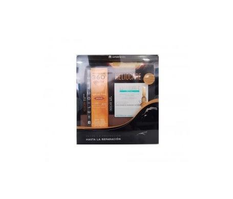 Heliocare 360º Gel sans huile Beige Spf 50 + 7 Ampoules Endocare sans huile