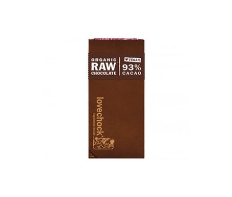 Lovechock Pure Vegan Chocolat Pur 93% 70g