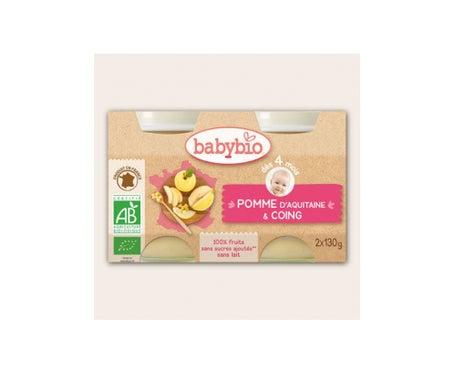 Babybio Petits Pots Pomme Coing Bio dès 4 mois 2x130g
