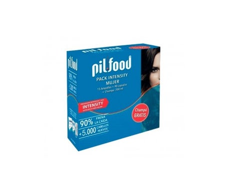 Pilfood Intensity Femme 15 Ampoules + 90 Gélules + Shampooing