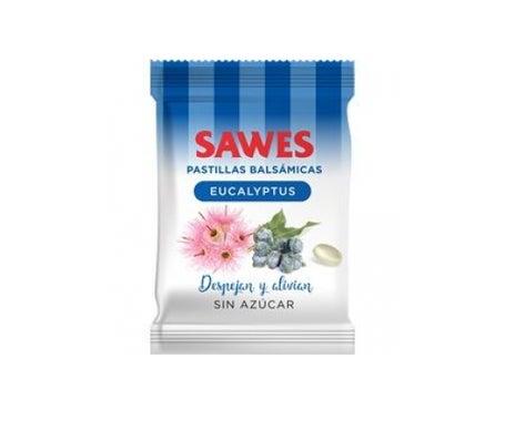 Sawes Comprimés balsamiques Arôme d'eucalyptus en sachet de 50g