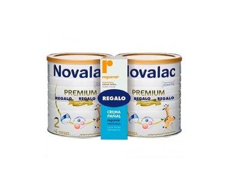 Novalac Premium 2 lait Premium Premium 800g+800g + Repavar Pediatril crème change 75ml