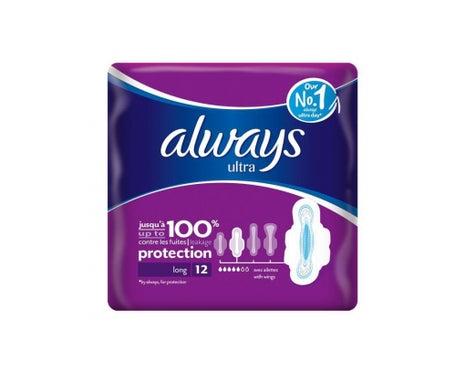 Always Ultra Long 12 Serviettes Hygiéniques Avec Ailettes