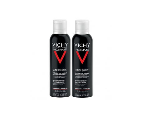 Vichy Homme Mousse à Raser AntiIrritations Lot de 2x200 ml