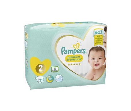 Pampers Premium Protection New Baby T 2 Mini 36 kg 31 pièces