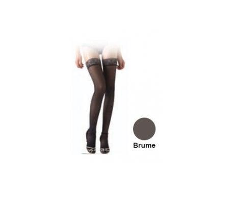 Sigvaris Diaphane Classe 2 Bas Auto Fixant Microfibre Femme Brume Taille L Hauteur Longue