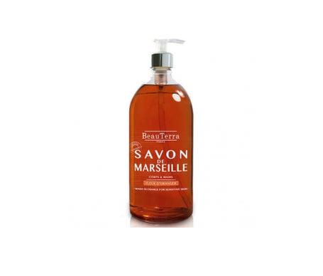 BeauTerra Savon de Marseille Liquide Fleur d'Oranger 1L