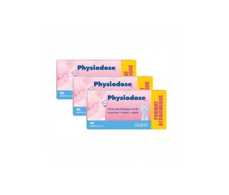 Gilbert Physiodose Sérum Physiologique Boîtes de 40 lot de 3