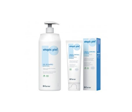 Atopic Leather Bath Gel Pack 750ml + Extreme Body Cream 50ml