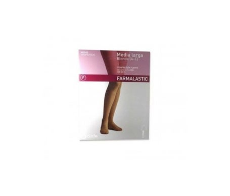 Farmalastic long compression stocking normal color camel T-G 1ud