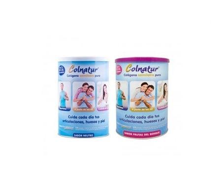 Colnatur™ collagène goût neutre 300g + Colnatur™ collagène assimilable pur fruits de la forêt 300g